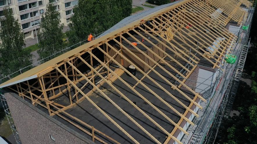 ullakkorakentaminen ja katon muutostyöt